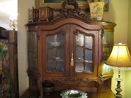 antique french buffet etched beveled glass cabinet doors