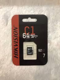Thẻ Nhớ 64G Hikvision Chính Hãng Bảo Hành 5 NĂM - Hikvision 64G SP000375 | Thẻ  Nhớ Máy Ảnh