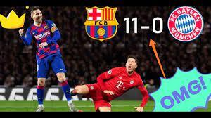 ملخص مباراة برشلونة وبايرن ميونخ 11-0 فضيحة كروية 🔥لن تصدق عيناك🔥HD -  YouTube