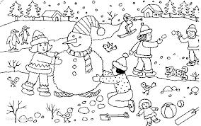 Kleurplaten Kerst Sneeuwpop