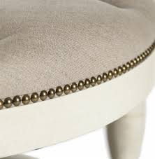 mille french country cream ivory linen round tufted coffee table ottoman kathy kuo home view full size view full size view full size