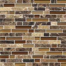 mosaic stone tile backsplash. Simple Stone Daltile Stone Radiance Butternut Emperador 1134 In X 121 In Mosaic Tile Backsplash I