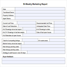 Weekly Marketing Report Template Free 19 Sample Marketing Report Templates In Google Docs