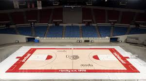 2019 Ncaa Tournament Court Designs The Blazers Will Use A Special 50th Anniversary Court Design