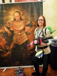 me with a replica of the vigo painting from ghostbusters 2