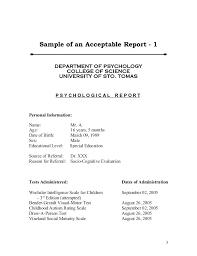 Assessment Example Psychological Assessment Example Psychological Assessment Example Is ...