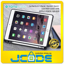 totu leather case with apple pencil holder for ipad pro 9 7 air air2