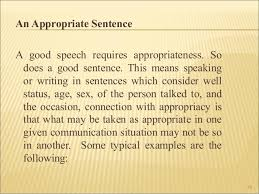 writing in the discipline boa 39 40 an appropriate sentence a good speech