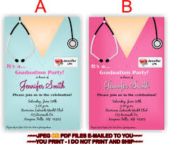Nursing Graduation Party Invitations Nursing Graduation Party Invitation Personalized Diy Graduation Invite Party Printables Grad4