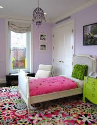 Lavender Teenage Bedrooms Bed Lavender Colored Rooms With Colorful Rug And Pink Blanket And