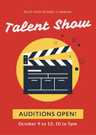 Red And Yellow Talent Show Flyer Templates By Canva
