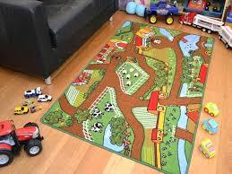 childrens rug road play mat farm yard boys kids large play road field bedroom rug mat childrens rug road play