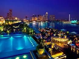 infinity pool singapore night. Lantern Infinity Pool Singapore Night