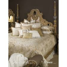 michael amini bedding. Unique Michael Michael Amini Luxembourg Creme 13pc King Comforter Bedding Set By Aico Intended