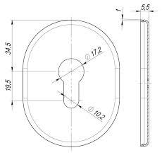 Декоративная <b>накладка</b> Fuaro (Фуаро) под <b>цилиндр</b> ESC 473 SN ...