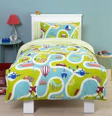 around we go toddler cot bed duvet kids bedding set vroom vroom this duvet set is