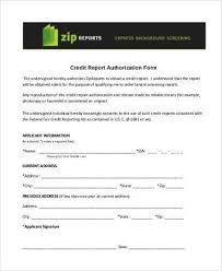 Credit Check Release Form Gorgeous Sample Credit Report Authorization Forms 44 Free Documents In Word