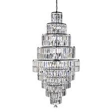 empire 13 light tiered crystal chandelier in chrome finish 1500cc