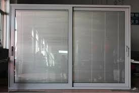 sliding patio doors with built in blinds large bellflower the com regard to glass decorations 7