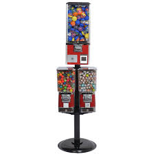 Candy Machine Vending Cool Triple Toy Capsule Candy Vending Machine Gumball