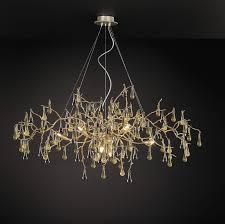 traditional chandelier glass bronze halogen bijout ct3268 8
