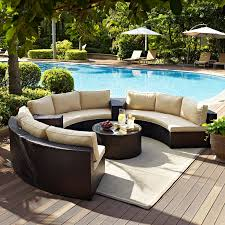 Furniture Bradenton 4 Piece Outdoor Wicker Seating Set With Navy