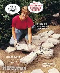 how to brick patio photo  set the border stones