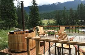 picture of diy wood fired cedar hot tub