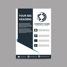 White Brochure Black And White Brochure For Business Vector Free Download