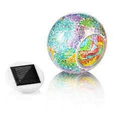 wish color changing solar powered glass ball led garden lights rechargeable solar table lights outdoor waterproof solar night lights table lamps for