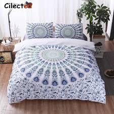 cilected bohemian bedding set purple white blue mandala duvet cover intended for boho bedding sets