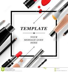 makeup template with collection of make up cosmetics and accessories stock ilration ilration of female liner 48294311