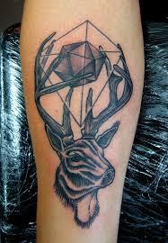 Tetování Jelen V Geometrii Tetování Tattoo
