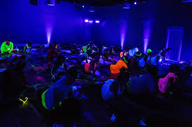 diva blacklight yoga party