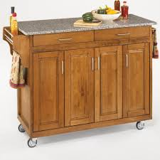 Kitchen Island Cart With Granite Top Crosley Industrial Kitchen Island Cart 2 Sturdy Metal Shelves In