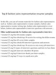httpsimageslidesharecdncomtop8fashionsalesre sales rep cover letter