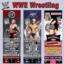Small Picture Wwe Birthday Invitations gangcraftnet