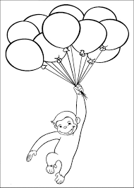Free Curious George Coloring Pages With Printable Coloring Balloons