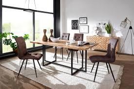 Esszimmertisch Mit 4 Stühlen Holz Massiv Esstisch Set 200 Cm