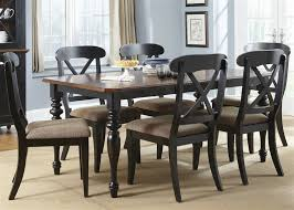 abbey court x back chairs 5 piece dining set in black and cherry finish by liberty