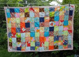 62 best Quilts that shouldn't be.... images on Pinterest | Quilt ... & Vtg Patchwork Square Boho Hippie Lap Baby Blanket Small Quilt 55x37 Adamdwight.com