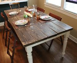 Diy Farmhouse Dining Room Table - Diy rustic dining room table