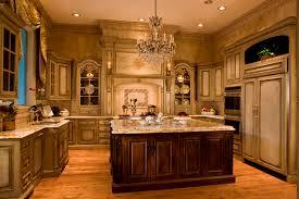 Luxury Kitchen Cabinet For Italian Kitchen Plan Using Ornate Accesories And  Elegant Chandelier