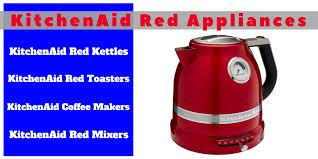 kitchenaid red appliances header