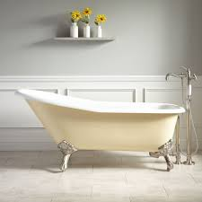 clawfoot bathtub faucet 66 goodwin cast iron clawfoot tub imperial feet light yellow intended for lovable