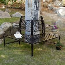tree seats garden furniture. Coral Coast Scrollback Metal Tree Surround Bench Seats Garden Furniture