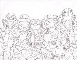 Small Picture Halo Master Chief Printable Coloring Pages Coloring Pages Ideas