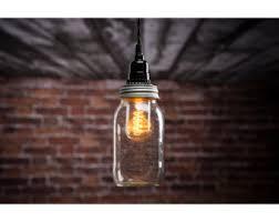 Mason Jar Pendant Light Kit w/ 15.5 ft cord - Turn any regular mouth Mason