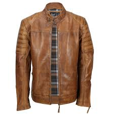Light Brown Leather Jacket Mens Details About Mens Real Leather Biker Jacket Washed Tan Rust Brown Vintage Zipped Smart Casual
