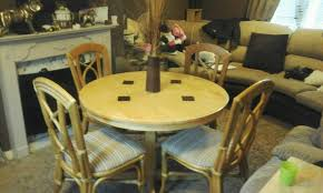 round dining table and four chairs feel free to contact me